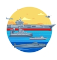 Military Boats Template vector image