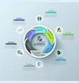modern circular infographic design layout with 6 vector image