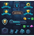 Monster battle GUI set items buttons and icon vector image vector image