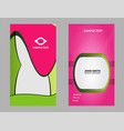 morden business card template vector image vector image