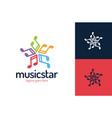 music star logo design template star vector image