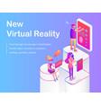 new virtual reality poster vector image vector image