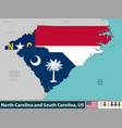 north carolina and south carolina united states vector image vector image