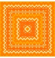 Orange knitted shawl pattern vector image
