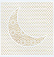 ornamental arabic half moon with decorative golden vector image vector image