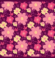 pink and yellow abstract flower seamless pattern vector image vector image