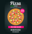 pizza poster template and flyer for restaurant vector image