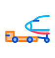 plane tow truck icon outline vector image