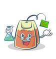 professor tea bag character cartoon art vector image vector image