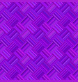 purple abstract repeating diagonal striped square vector image vector image