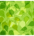 Seamless pattern with green birch leaves vector image vector image