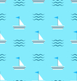 Seamless Pattern with Sail Boats on Blue vector image vector image