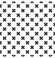 seamless texture black crosses on white backdrop vector image vector image