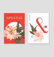 set floral elements wedding card design vector image vector image
