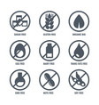 set of icons with sign meaning absence of sugar vector image vector image