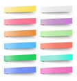 set of pastel color sticky notes stickers vector image vector image