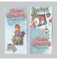 set vertical christmas cards with flashlights vector image vector image