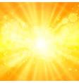 shiny sun sunbeams sunrays vector image vector image