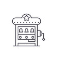 slot machine line icon concept slot machine vector image