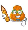 student hard shell character cartoon vector image vector image