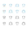 sweater sweatshirt t-shirt icon set vector image vector image
