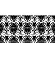 tessellation with fox and buddha faces in black vector image vector image