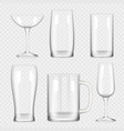 transparent glass cup empty champagne cocktail vector image