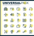 travel icons set collection of plastic card vector image vector image