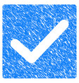 valid tick grunge icon vector image vector image