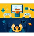 Video Game Banner Set vector image vector image