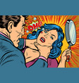 woman fights off the strangler vector image vector image