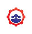 abstract gear team work logo icon image ima vector image