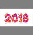 2018 happy new year isolated on white vector image vector image