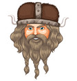 a head of viking vector image