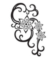Abstract composition of the ornaments in the vector image