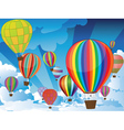 Air Balloons in the Sky3 vector image vector image