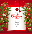 background christmas tree and card vector image