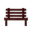 bench outdoor furniture icon image vector image