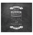 Best Summer Holidays - Calligraphy Design vector image vector image