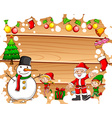 Border design with christmas theme vector image