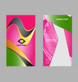 business card set elements for design vector image vector image
