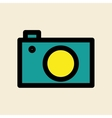 camera editable icon vector image