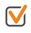 checkmark tick icon vector image vector image