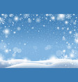 christmas background design of snow falling vector image vector image