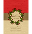 Christmas invitation red and beige vector image vector image