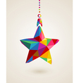 Christmas star multicolors hanging bauble vector image vector image