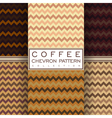 coffee chevron seamless pattern collection vector image vector image