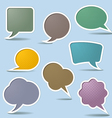 collection speech bubbles vector image vector image