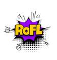 comic text phrase pop art rofl lol funny vector image vector image