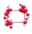 confetti falling from red hearts vector image